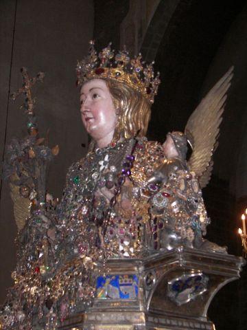 Buste reliquaire de Sainte Agathe à Catane