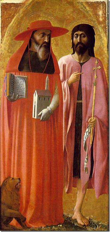 Saint Jérome et Saint Jean-Baptiste, Masaccio et Masolino, National Gallery, Londres
