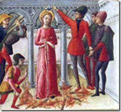 Sainte Lucie prie sur son bucher par Quirizio da Murano