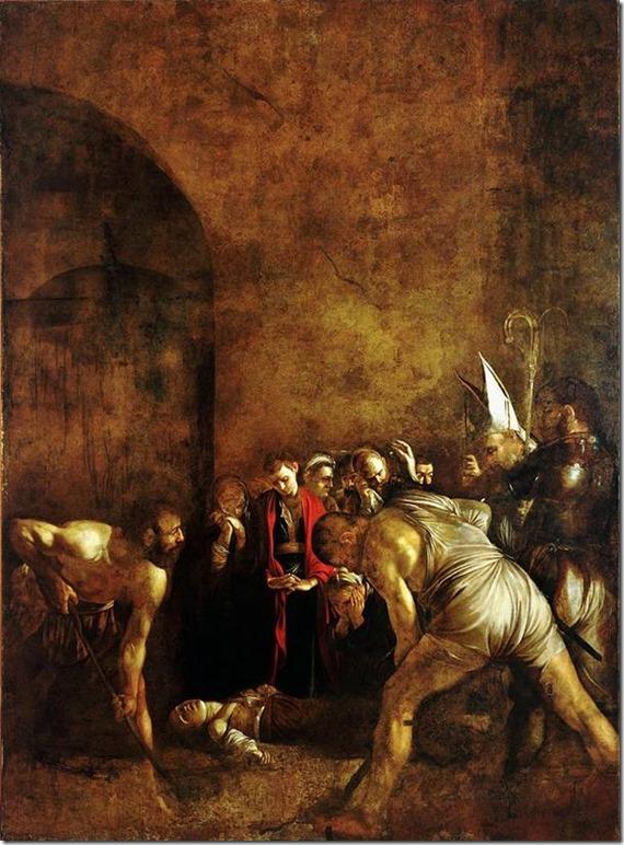 L'enterrement de Sainte Lucie, le Caravage, Santa Lucia al Selpocro, Syracuse