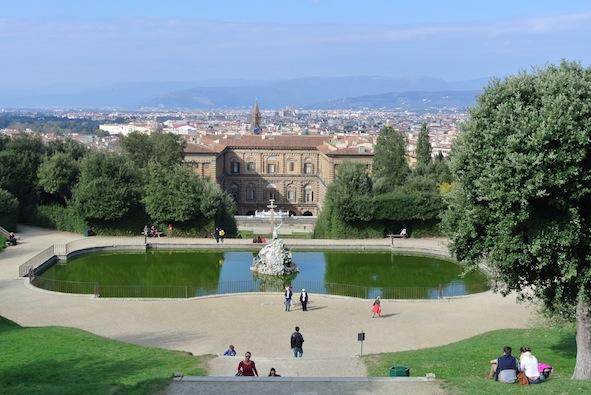 vue des jardins de Boboli
