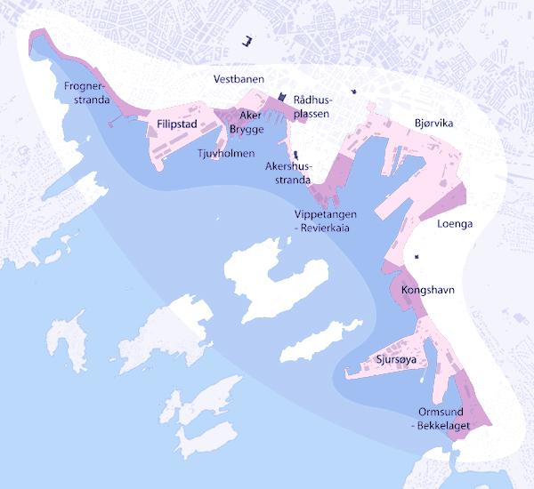 Plan du projet urbain Fjordbyen
