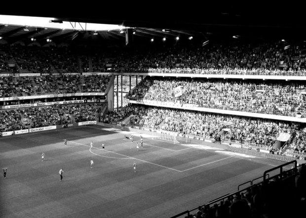 Le stade tel qu'il est aujourd'hui. Toujours rempli.