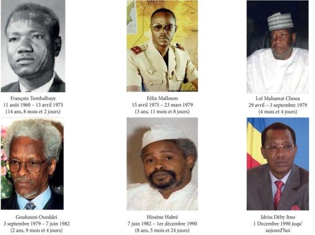 les présidents du Tchad