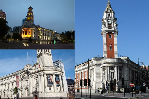 © Auckland City Coucil, © © Wikipedia Auckland Town Hall / Brixton Town Hall.