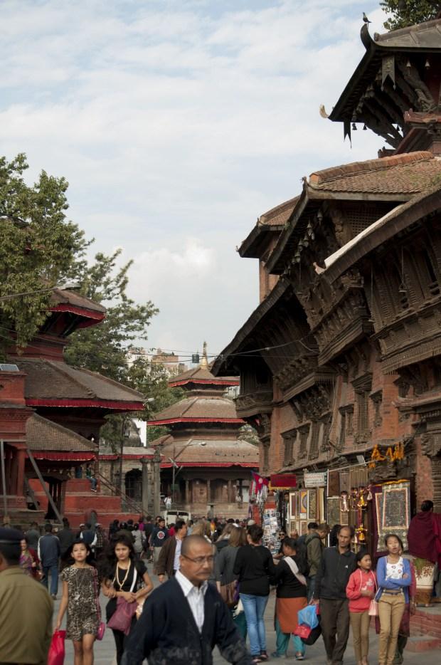 Temples côtes à côtes, Durbar Square, Kathmandou