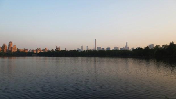 New-York : Vision lointaine sur le Reservoir.