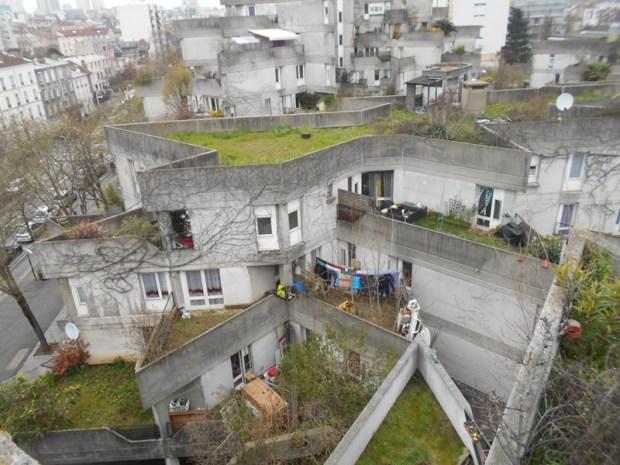 Vue d'ensemble sur les terrasses avoisinnantes
