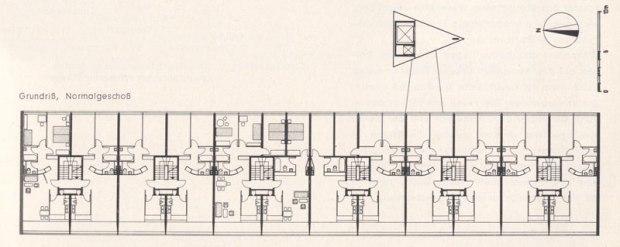 plan regulier (source: Interbau Berlin 1957. Amtlicher Katalog)