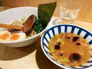 Ramen Tsukemen : épinard, cébette et chashu
