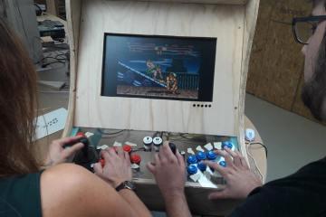 FabLab etabli borne arcade 08