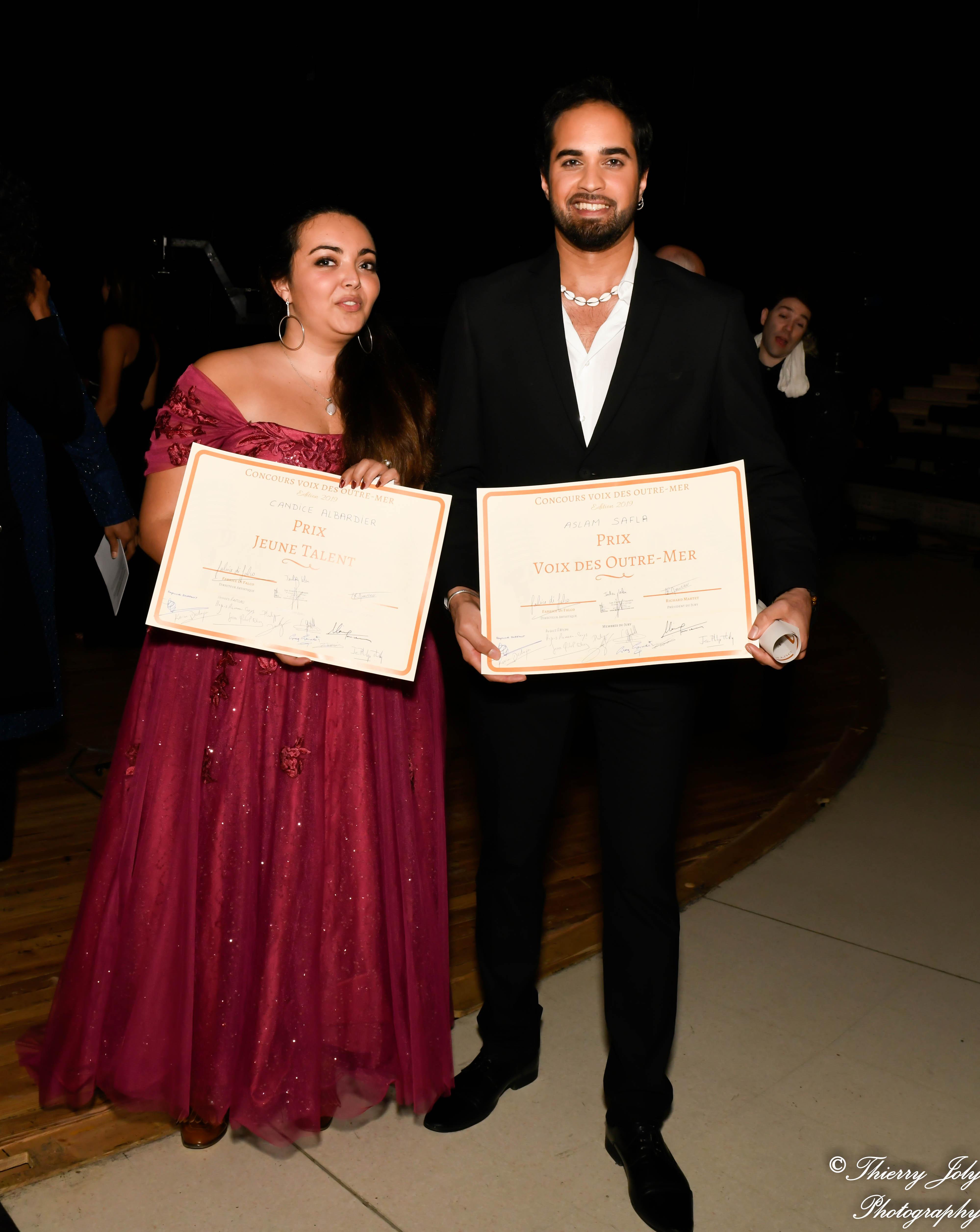 Concours Voix des Outre-mer Candice Albardier et Aslam Safla Prix VOM et JT