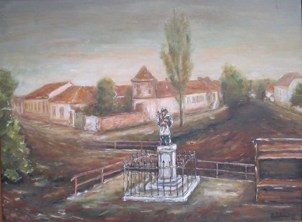 Námestie so sochou sv. Jána (rok 1930)