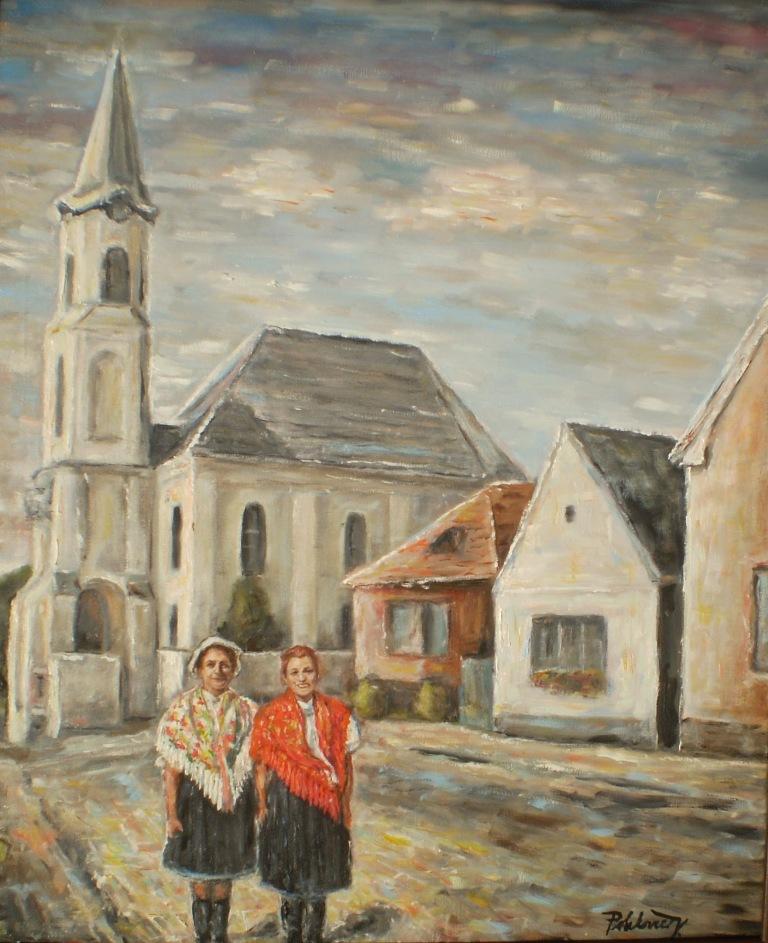 Pred evanjelickým kostolom