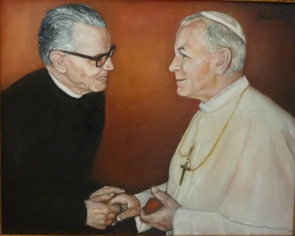 Významný račiansky rodák - kňaz ThDr. Stanislav Xaver Čík u pápeža Jána Pavla II.
