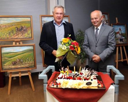 Vernisáž výstavy obrazov v Morawicy v Poľsku