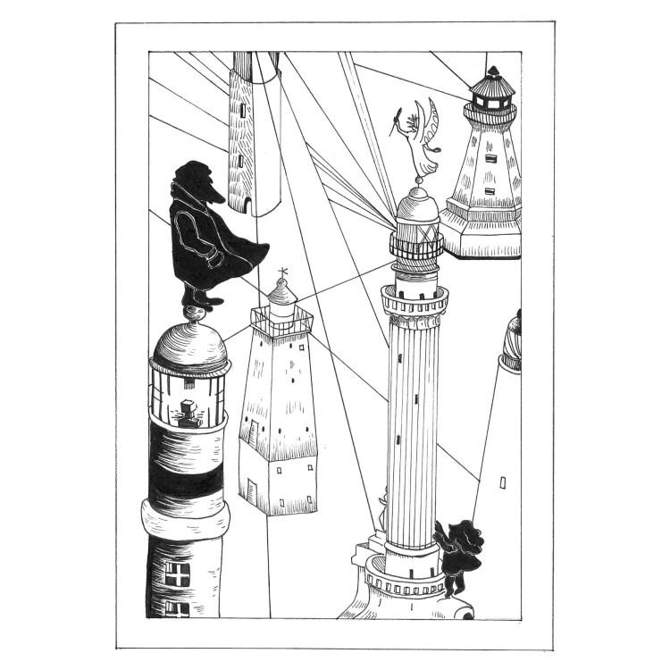 Il cacciatore di fari, racconto di Chiara Mancinelli, illustrazione di Jana Kalc