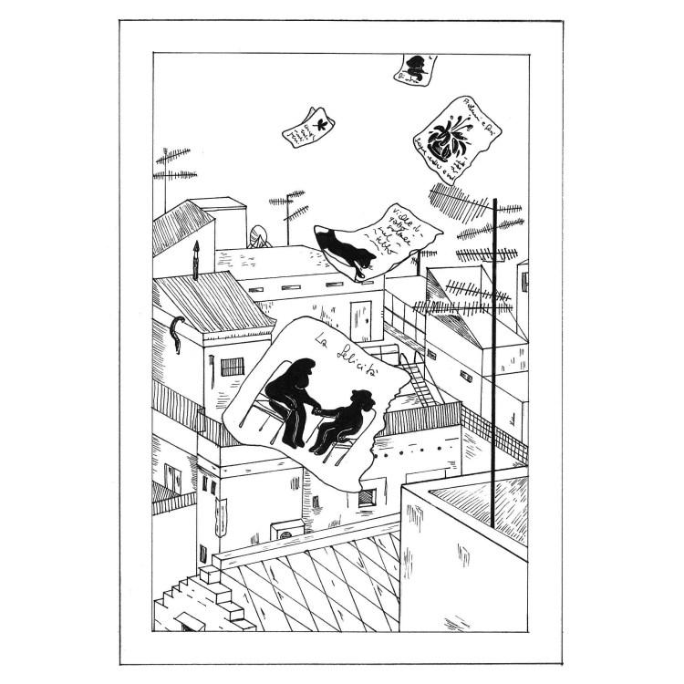 """""""Gli uomini sui tetti"""" è un racconto di Chiara Mancinelli illustrato da Jana Kalc che fa parte del libro """"Il cacciatore di fari"""" (Robin 2020)."""