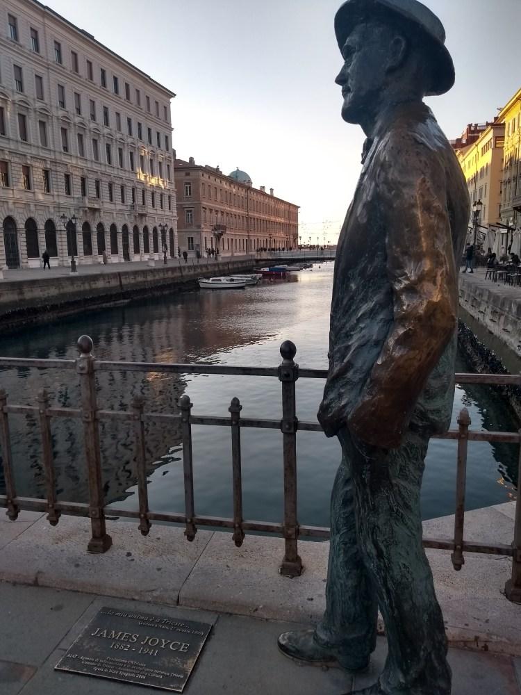 Statua di James Joyece (Trieste). Foto di Chiara Mancinelli