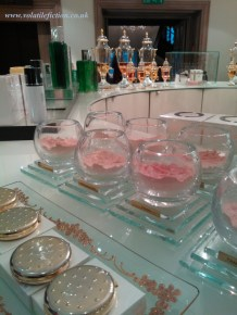 Caron face powders at Fortnum's.