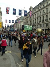 Regent Street closed to traffic for NFL American football celebrations