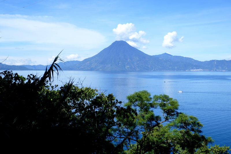 Lake Atitlán with volcano San Pedro