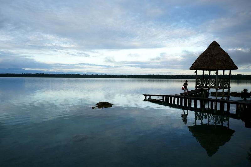 Laguna Lachua during the sunrise.