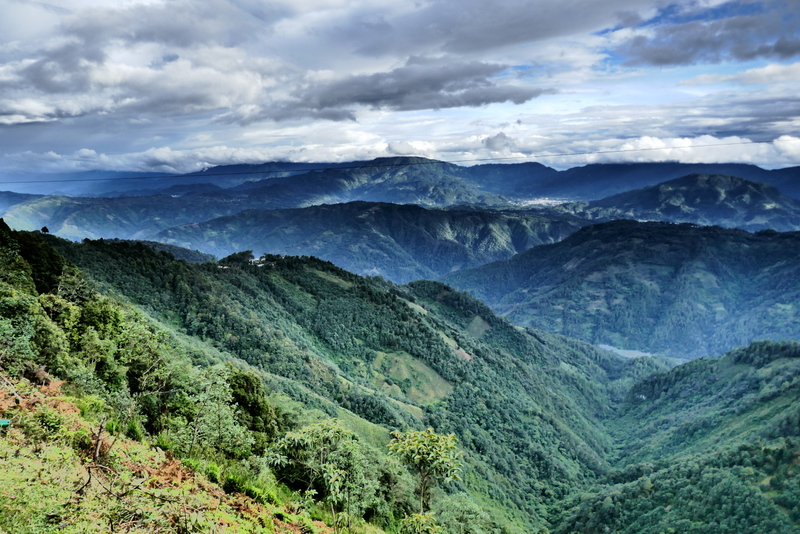 A landscape in the Ixil Triangle near Nebaj.