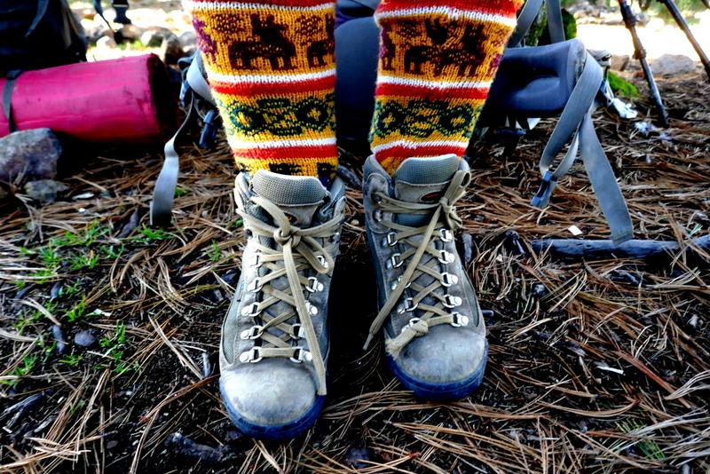 Woollen socks on Tajumulco.