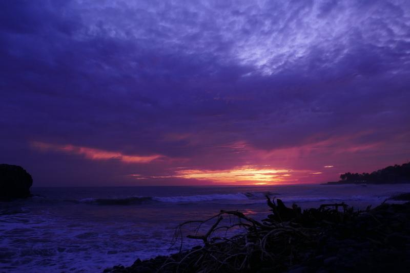 Sunset at El Tunco, El Salvador.
