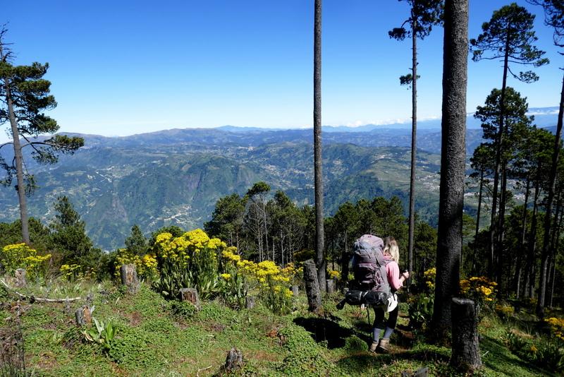 Hiking volcan Tajumulco near Xela.
