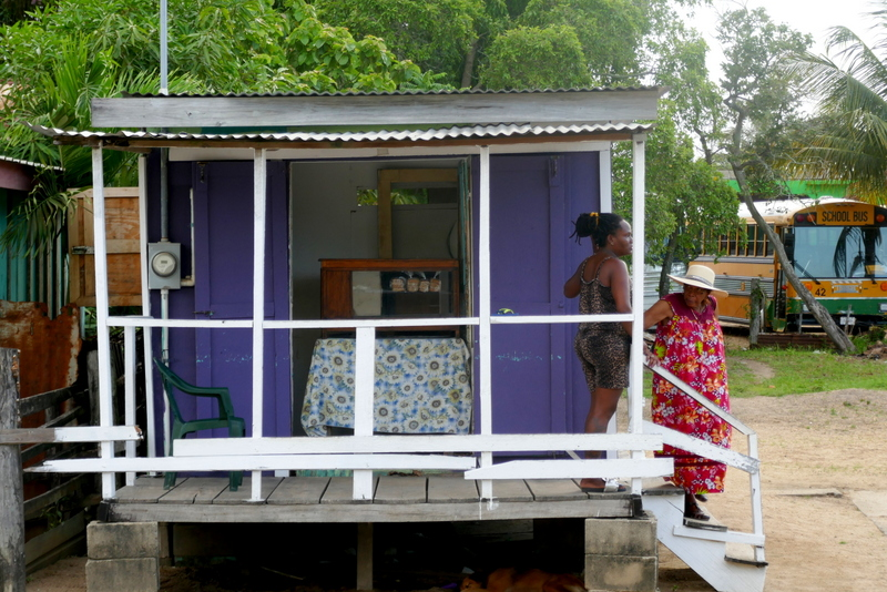 Little coffee and snack shack in Dangriga.