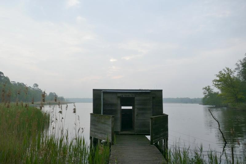 Birdwatching hut near the lake.