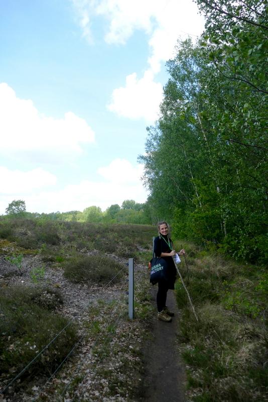Anete walking near Zilvermeer.