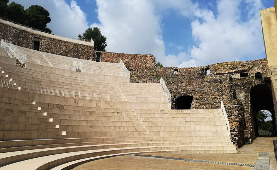 Stairs of the Roman theater of Sagunto