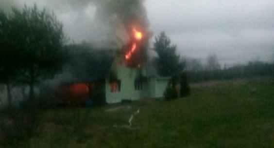 В деревне сгорел жилой дом