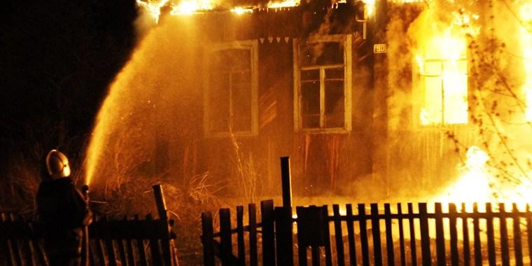 Ночной пожар в Колчаново