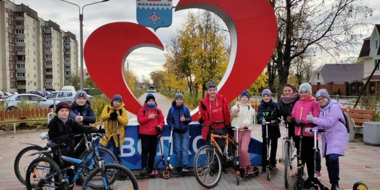 Велопрогулка пятиклассников по будущему веломаршруту