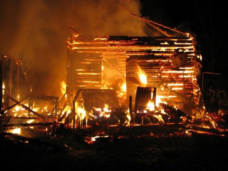 Ночной пожар унёс жизнь одного человека