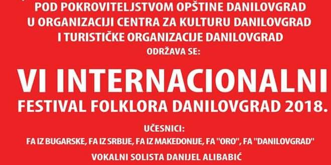 VI Internacionalni Festival Folklora Danilovgrad 2018