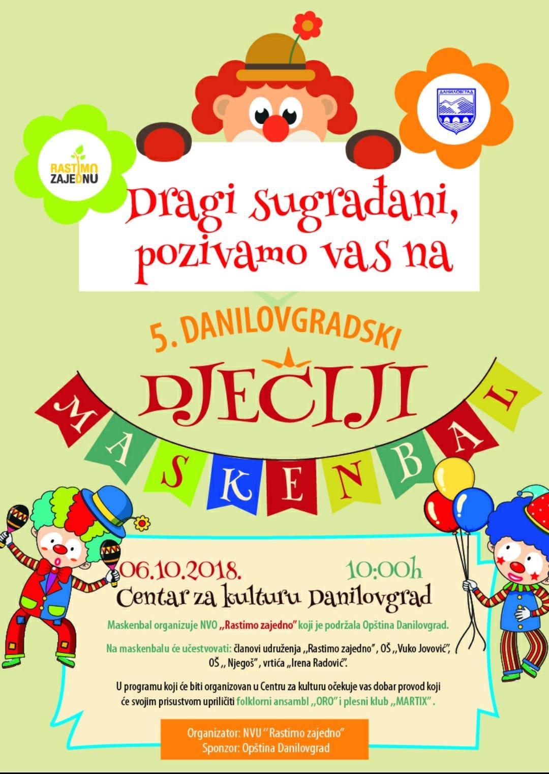 V Danilovgradski dječji maskenbal