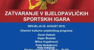 Program na zatvaranju V Bjelopavlićkih sportskih igara