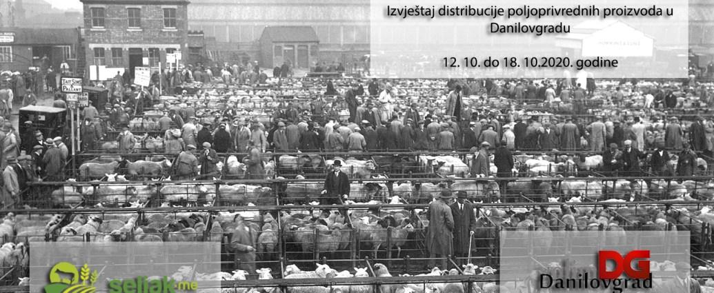 Izvještaj distribucije poljoprivrednih proizvoda u Danilovgradu