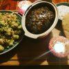 Blumenkohl-Couscous Salat, Orientalischer Hackbraten mit Aprikosen, Minze und Pinienkernen und Minzjoghurt