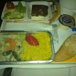 Reis und Hähnchengeschnetzeltes - Lufthansa Rückflug New York