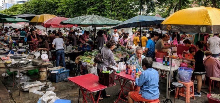 Foodmarket am Lumphini Park Bangkok