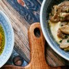 Hummus Kawarma - Hummus mit Lamm in Zitronenmarinade