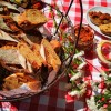 Tomaten-Speck-Käse Baguettes - Sizilien Edition
