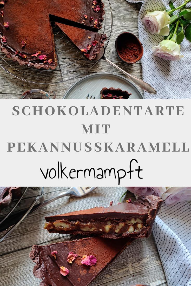 Pinterest Schokoladentarte mit Pekannusskaramell