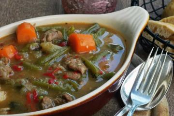 Dana etli guvec - Türkisches Kalbsgulasch mit viel Gemüse